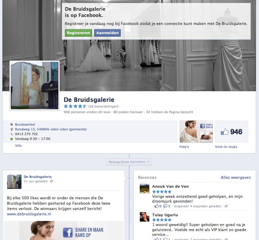 De Bruidsgalerie Facebook